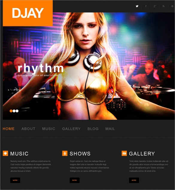 creative dj wordpress website theme 75