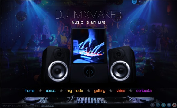 dj mix website template 25