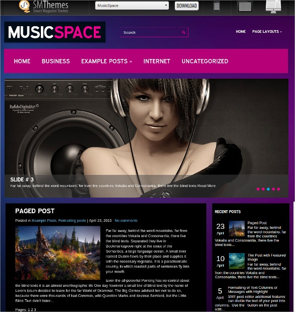free beautiful premium dj wordpress website theme