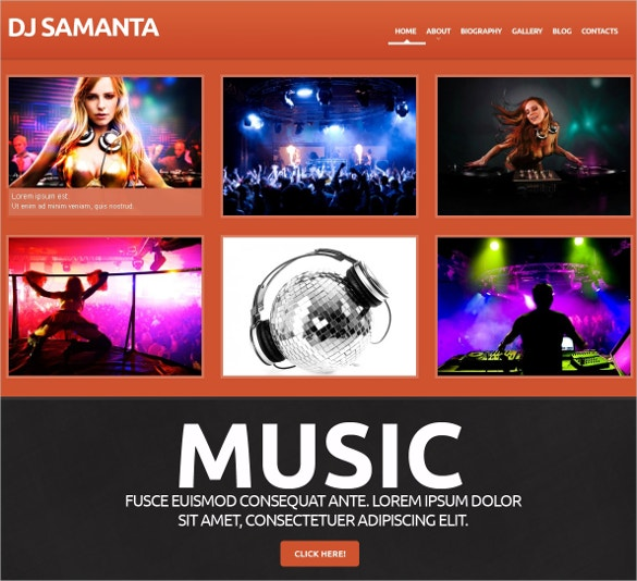 stunning dj wordpress website theme 75