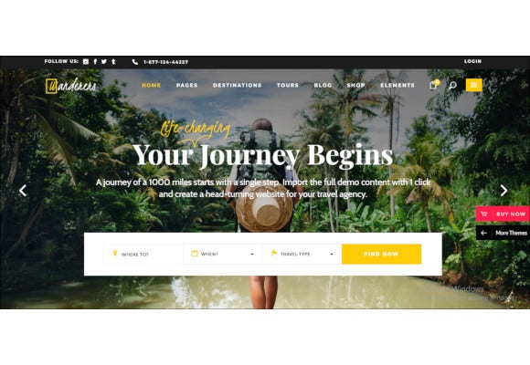 an adventurous theme for travel and tourism