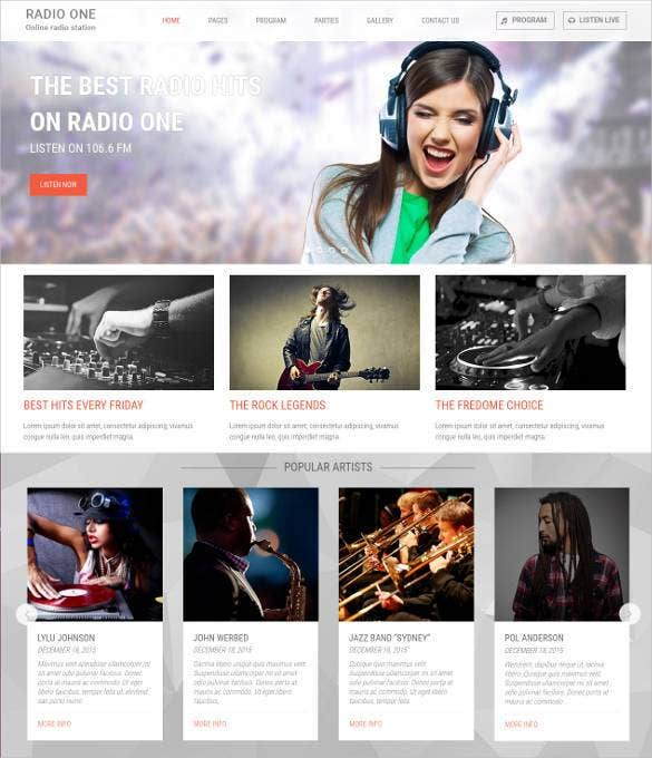 best online radio html bootstrap template1