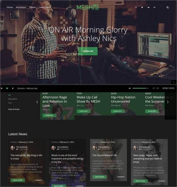 best radio station wordpress theme11