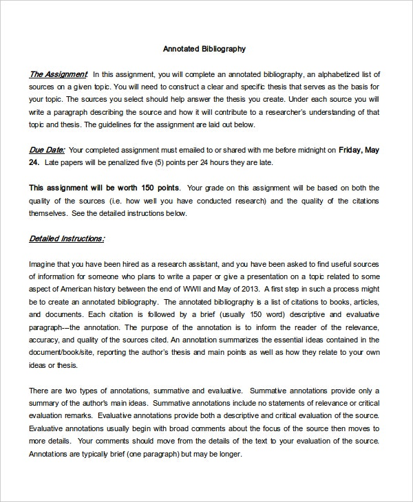 blank free annotated bibliography papers template1