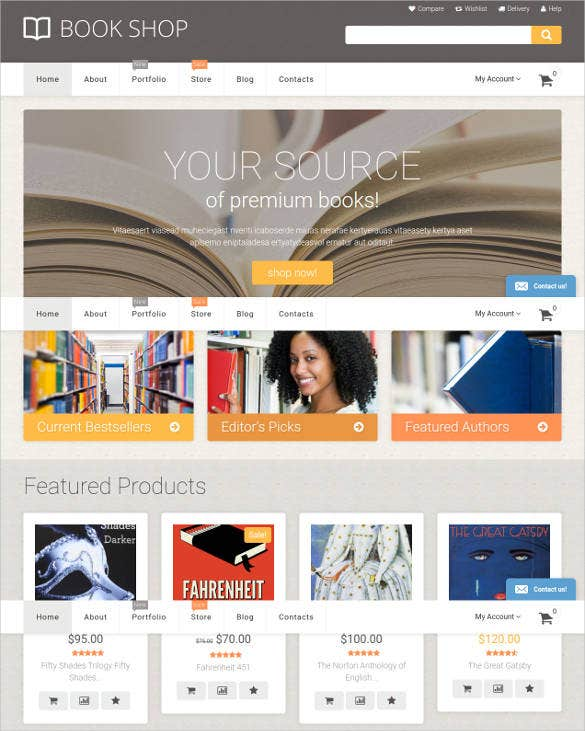 book shop woocommerce website theme1