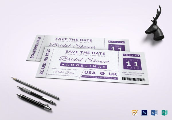 bridal shower boarding pass ticket template1
