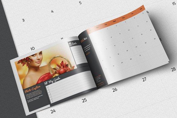 calendar organizer 2016 landscape template for ind