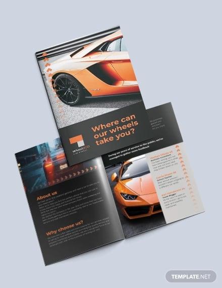 car rental bi fold brochure template1