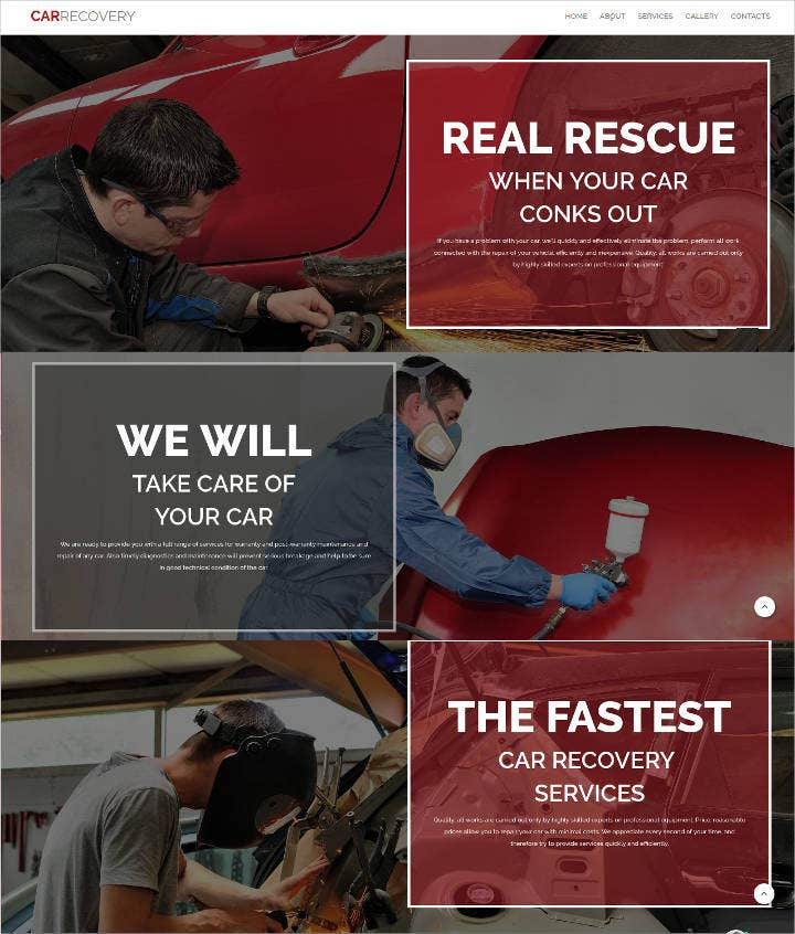 car repair service website theme