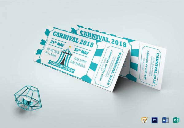 carnival event invitation ticket