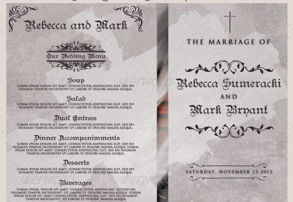 christian wedding program template for download1