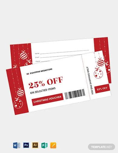 christmas boarding pass ticket voucher template