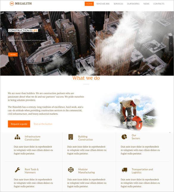 construction service website template1