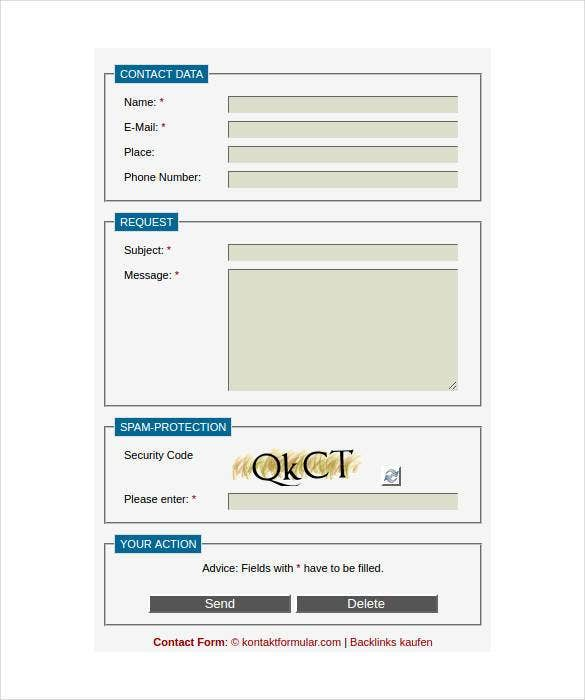 contact form homepage1