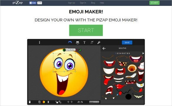 create your emoji with pizap emoji maker1