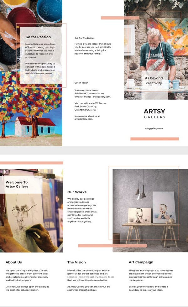 Creative Brochure Templates Free PDF PSD AI Vector EPS - Cool brochure templates