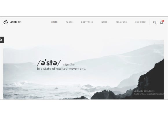 creative wordpress theme for artists