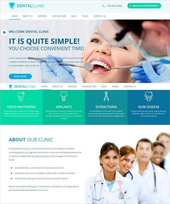 dental clinic responsive html5 website template1