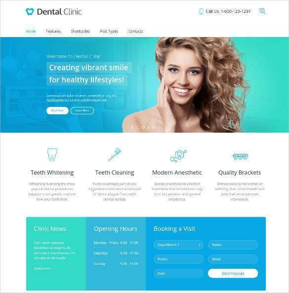 dental clinic website template 1