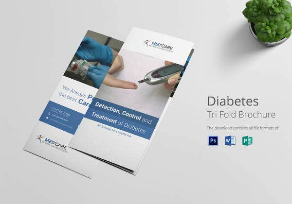 diabetes brochure trifold template