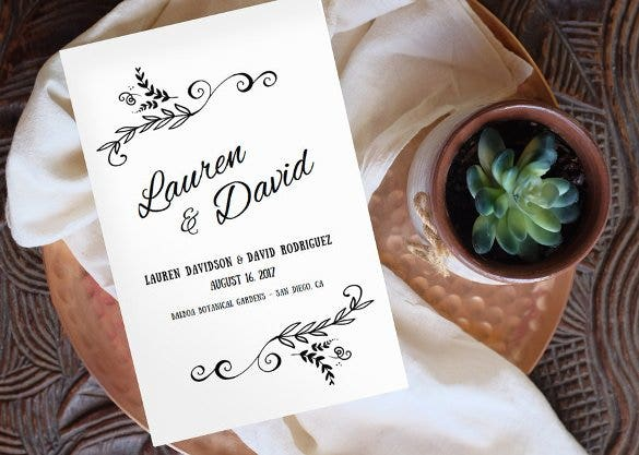 digital wedding program template for download1