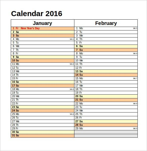 editable calendar 2016 uk for word format free dow