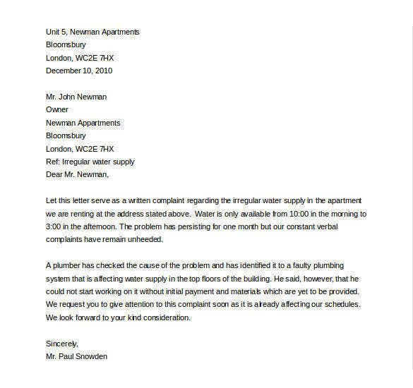 editable discrimination complaint letter download
