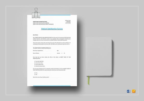 editable patient satisfaction survey template