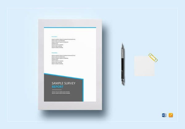 editable survey report template
