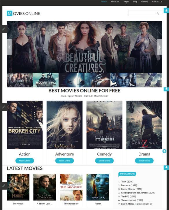 elegant movie responsive joomla blog template1