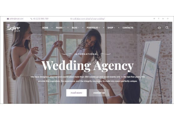 event wedding agency wp theme