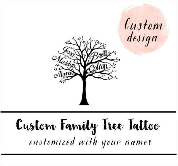 family tree tattoo template1