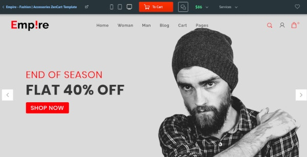 fashion accessories zencart template