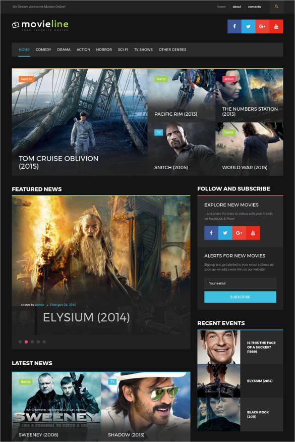 flat online cinema wordpress theme