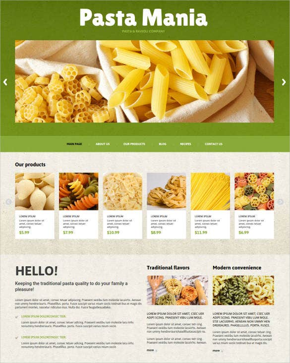 food store joomla website template