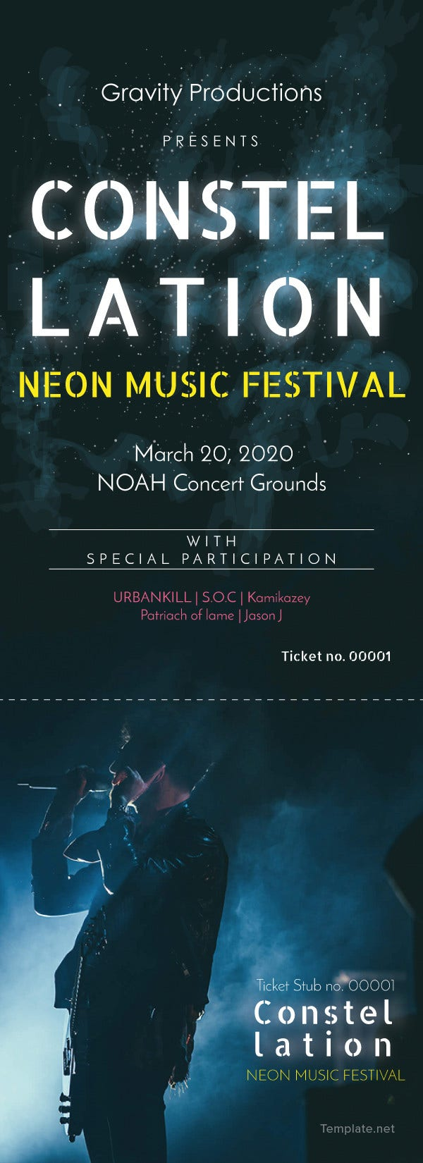 free-music-ticket-template