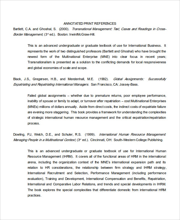 example of an annotated bibliography Sample annotated bibliography in mla style (7th ed, 2009) karin durán, phd karinduran@csunedu 8/21/2009 sample annot biblio mla the following annotated bibliography is one possible, general example.