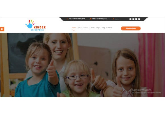 kindergarten school wordpress website theme