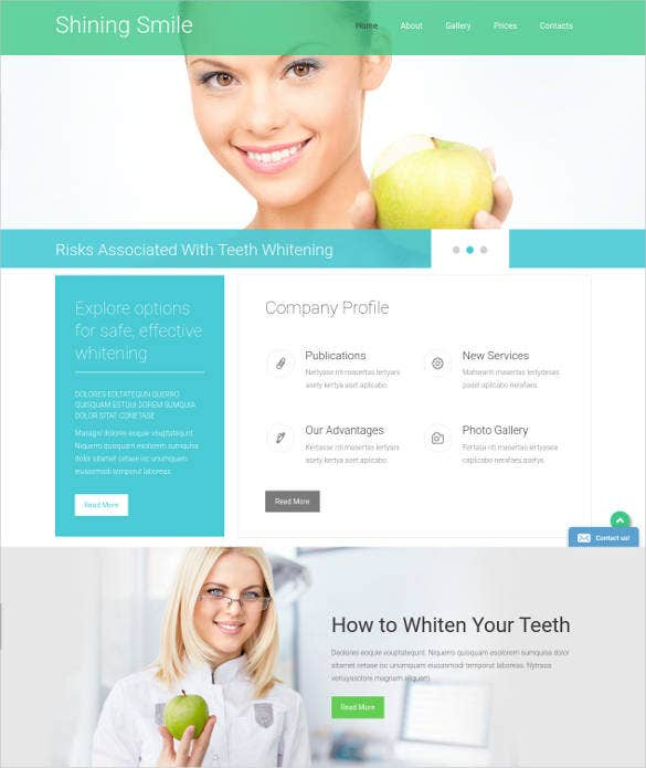latest dentistry treatment website template1