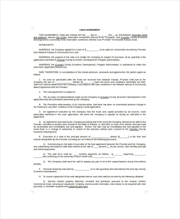 loan contract template1