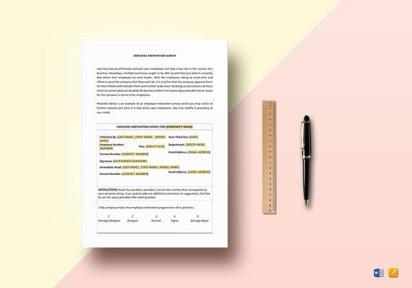motivation survey template to edit