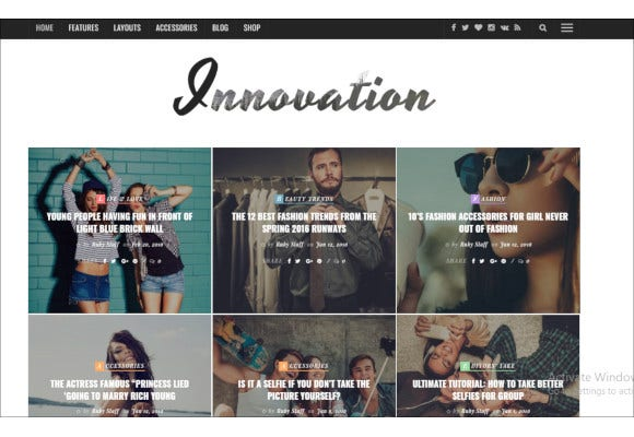 multi concept news magazine blog theme