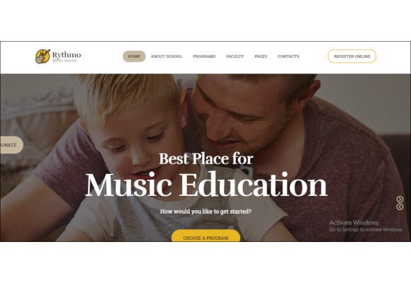 music school wordpress theme