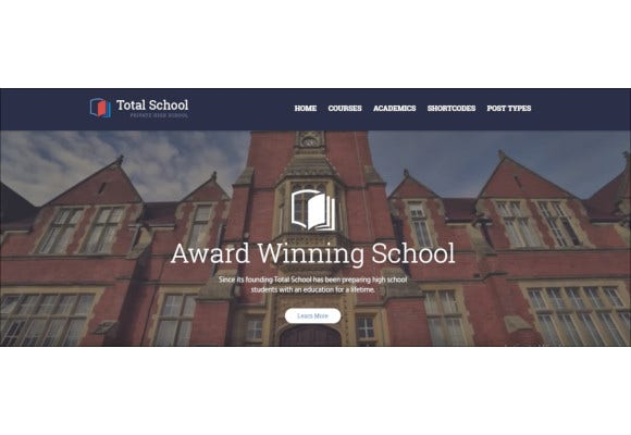 primary secondary high school education wordpress theme