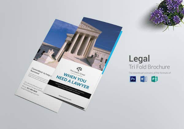 printable legal brochure tri fold template