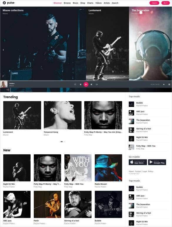 radio station woocommerce website template1
