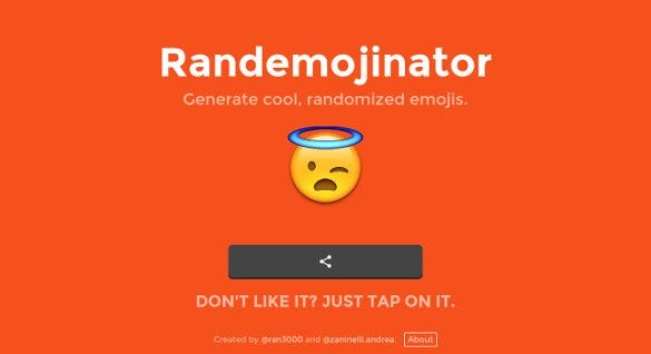 randemojinator generate cool randomized emojis1