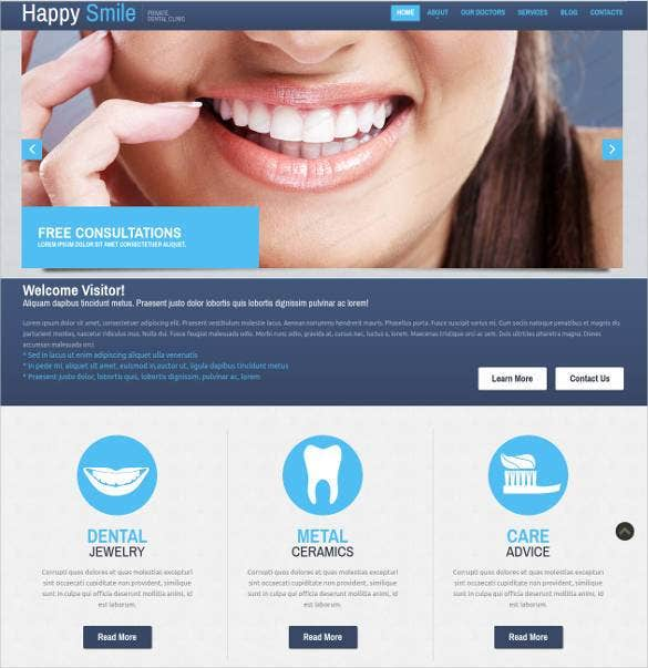 responsive dentistry website template11