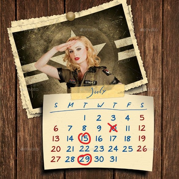 retro photos calendar 2016 template psd format dow
