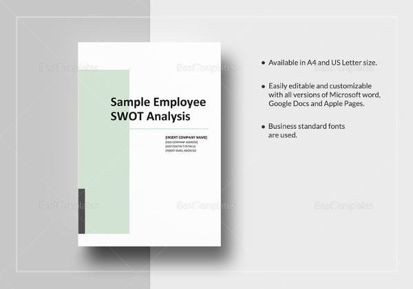 Sample Employee SWOT Analysis Template  Microsoft Swot Analysis Template